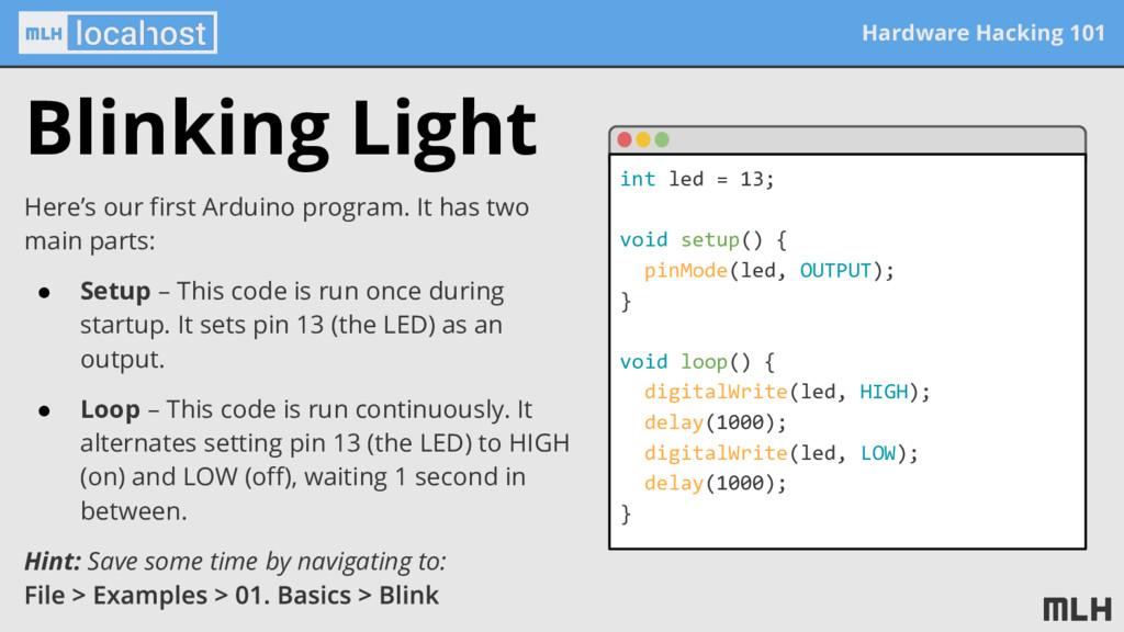 Hardware Hacking 101 Blinking Light Here's our ...