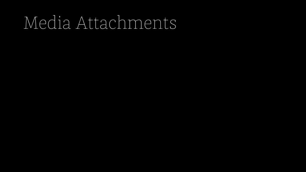 Media Attachments