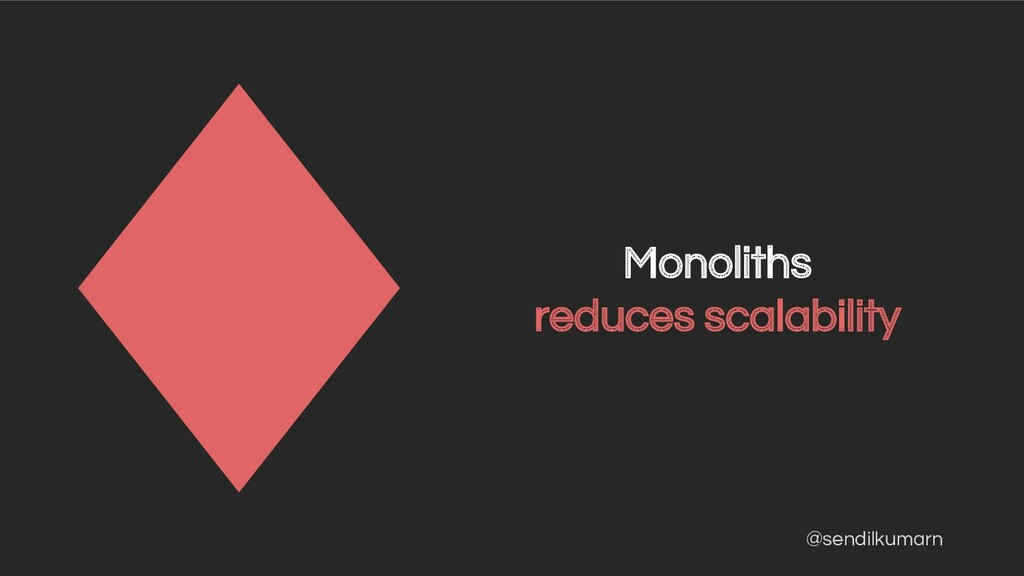@sendilkumarn Monoliths reduces scalability