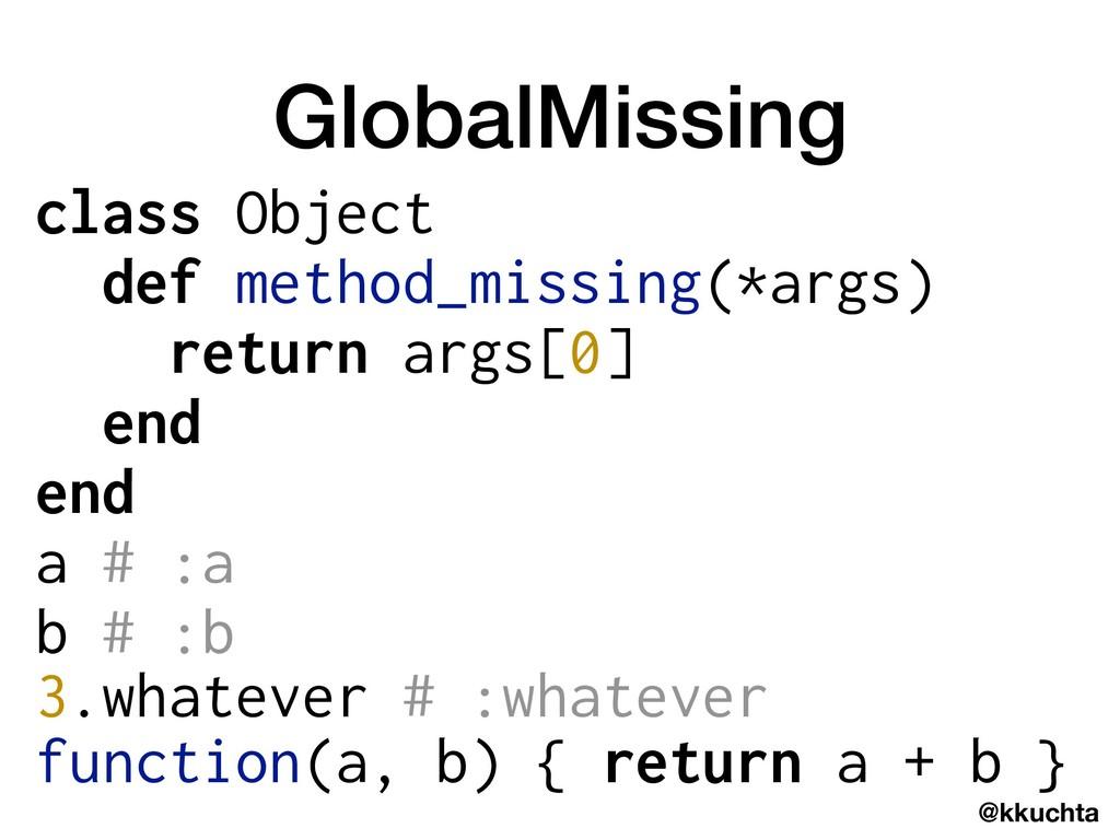 @kkuchta GlobalMissing class Object def method_...