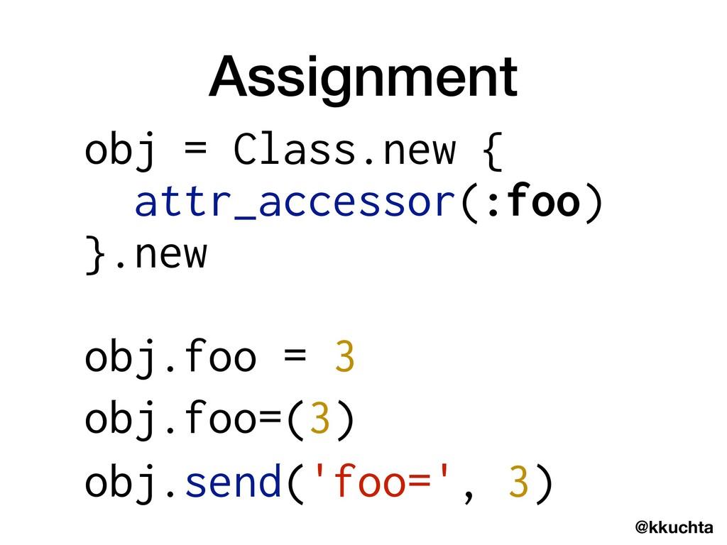 @kkuchta Assignment obj = Class.new { attr_acce...