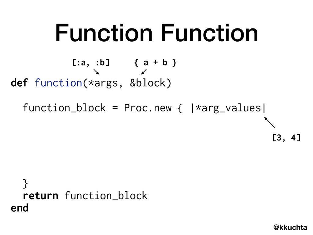 @kkuchta Function Function def function(*args, ...