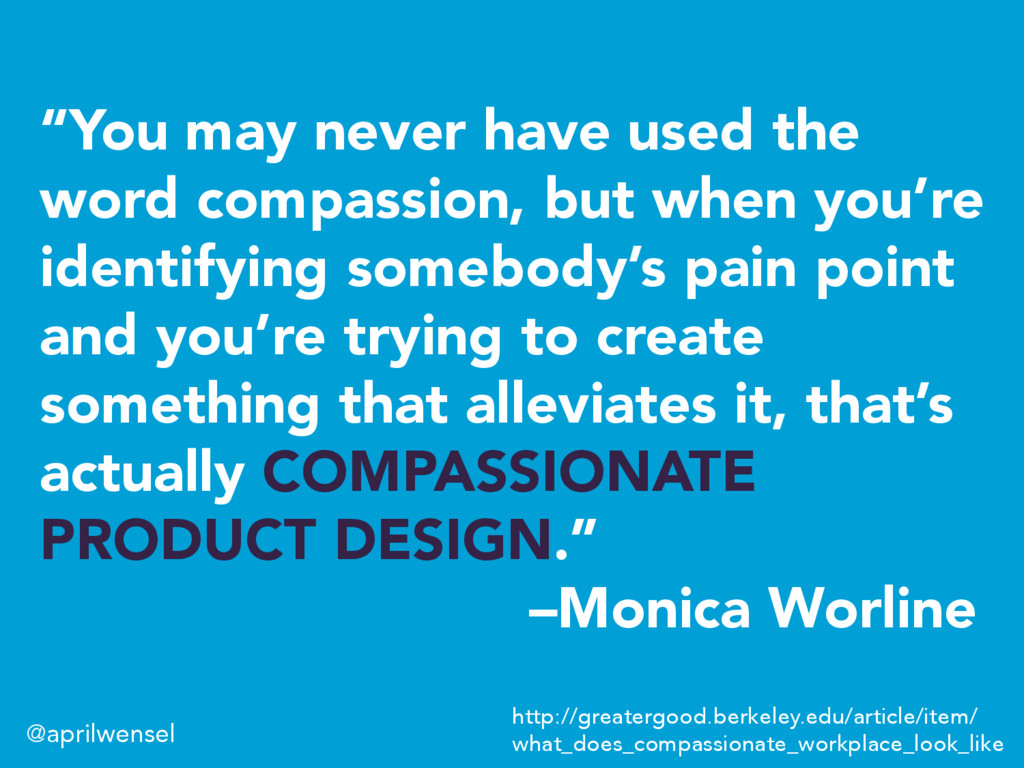 """You may never have used the word compassion, b..."