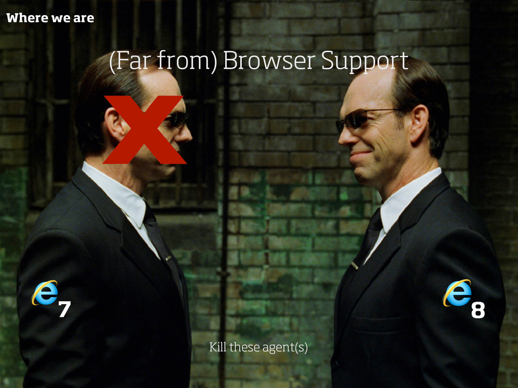 7 8 (Far from) Browser Support Kill these agent...