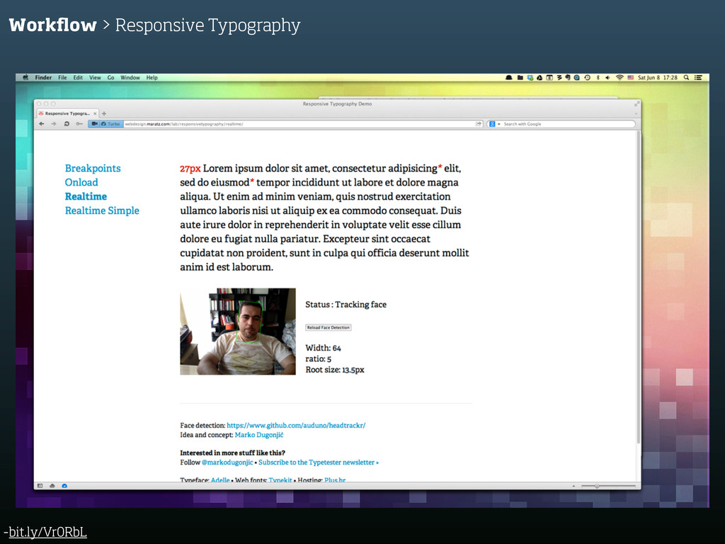 -bit.ly/Vr0RbL Workflow > Responsive Typography