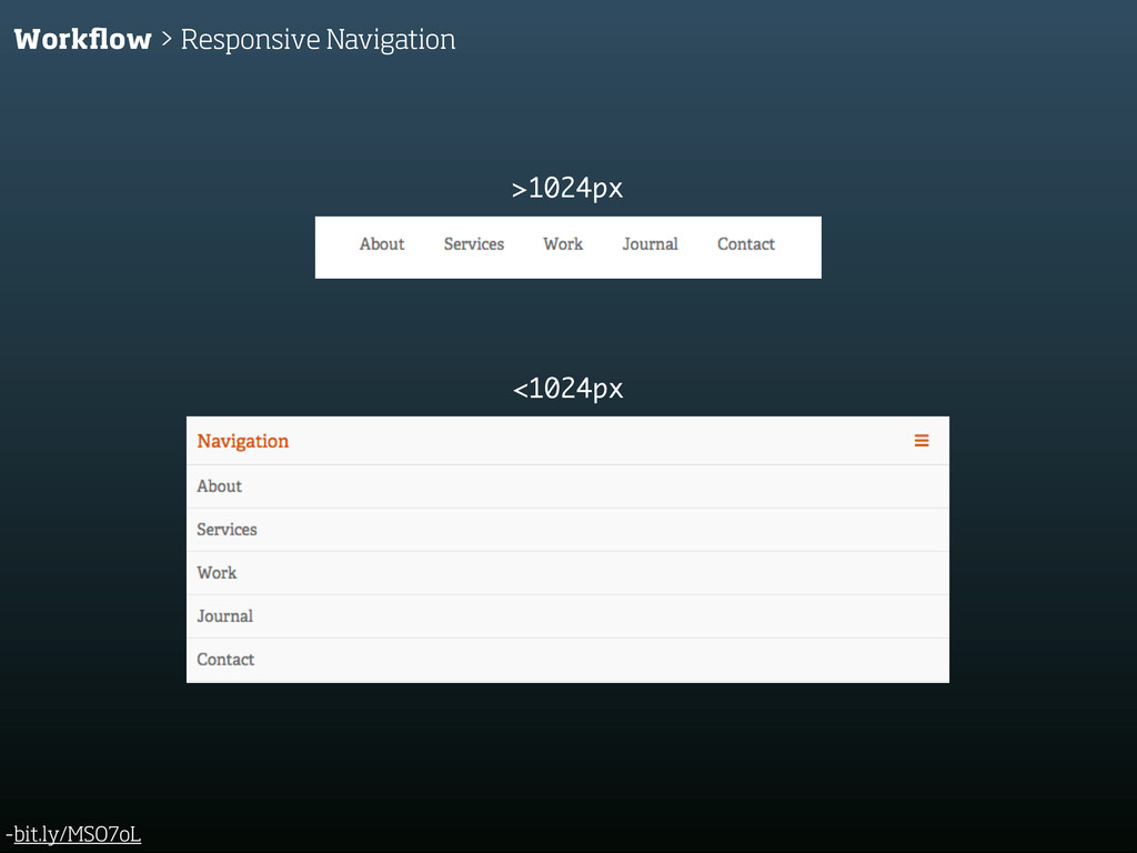 -bit.ly/MSO7oL Workflow > Responsive Navigation ...