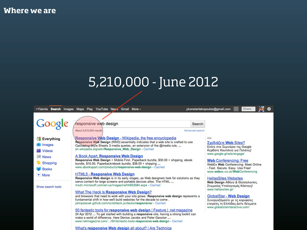 Where we are 5,210,000 - June 2012