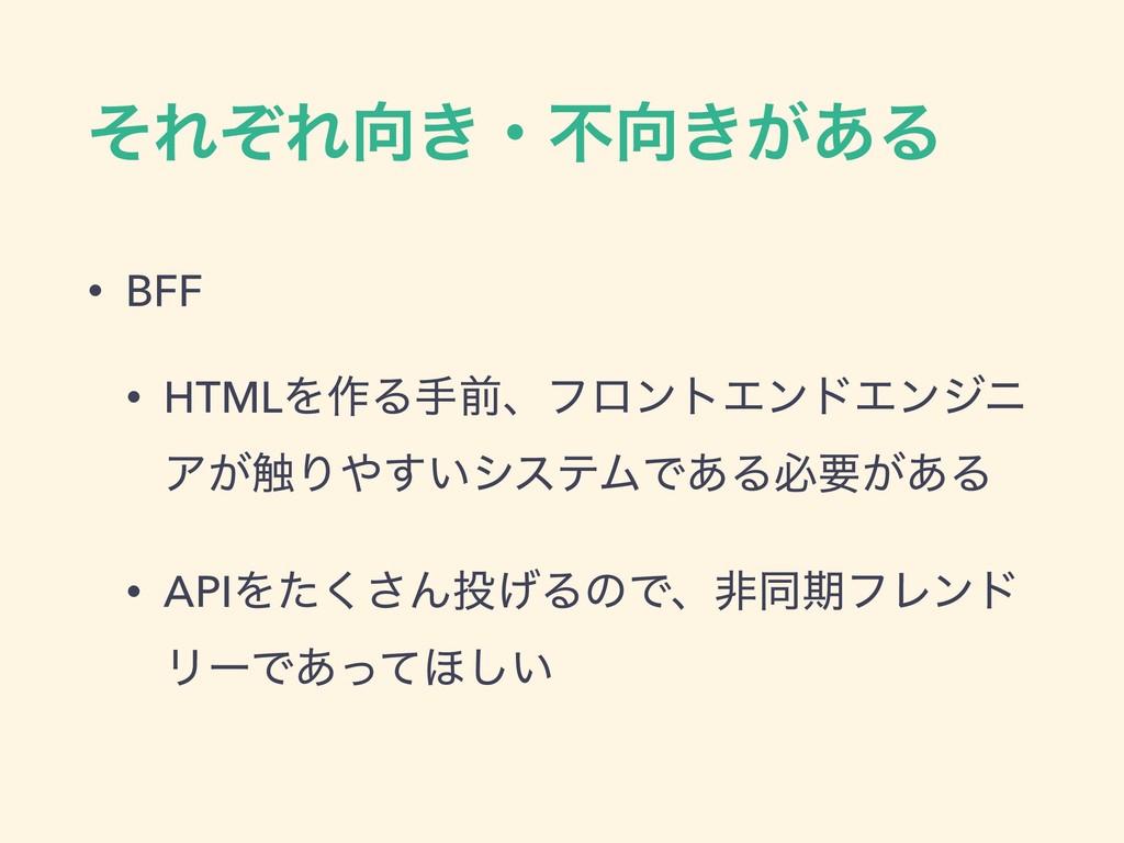 ͦΕͧΕ͖ɾෆ͖͕͋Δ • BFF • HTMLΛ࡞ΔखલɺϑϩϯτΤϯυΤϯδχ Ξ͕৮...