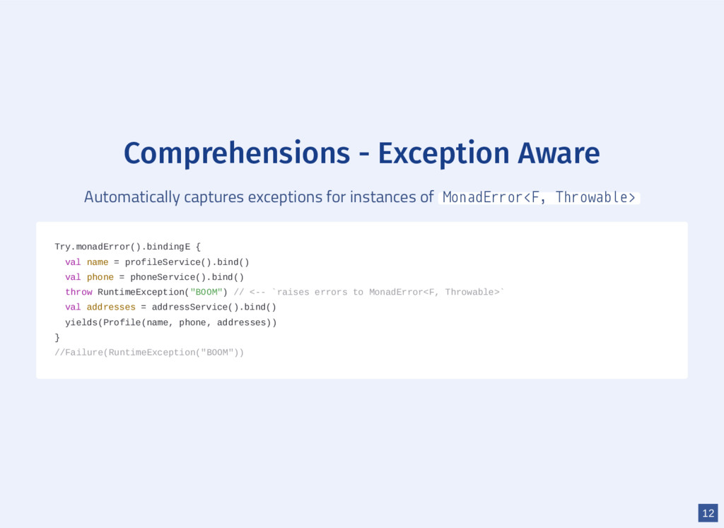 Comprehensions - Exception Aware Automatically ...
