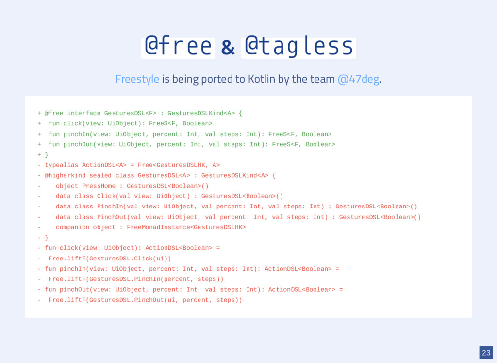 @free & @tagless is being ported to Kotlin by t...
