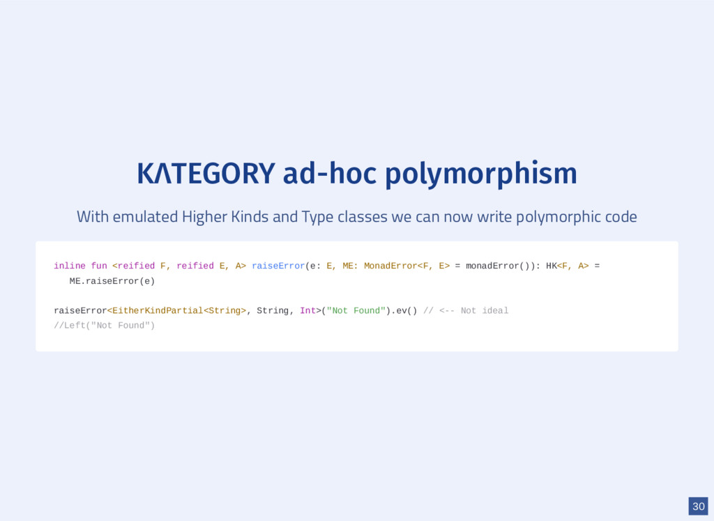 KΛTEGORY ad-hoc polymorphism With emulated High...