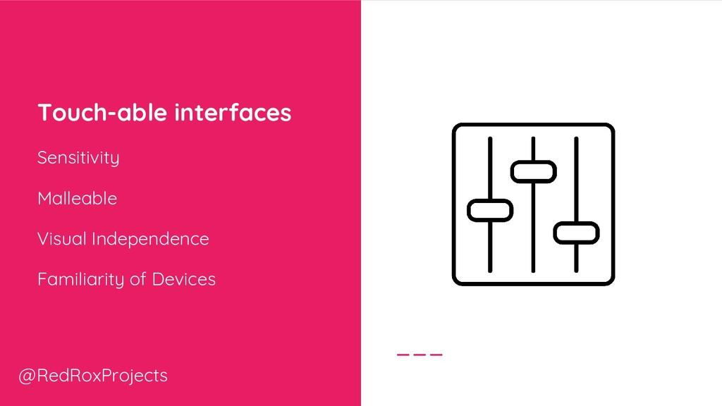 Touch-able interfaces Sensitivity Malleable Vis...