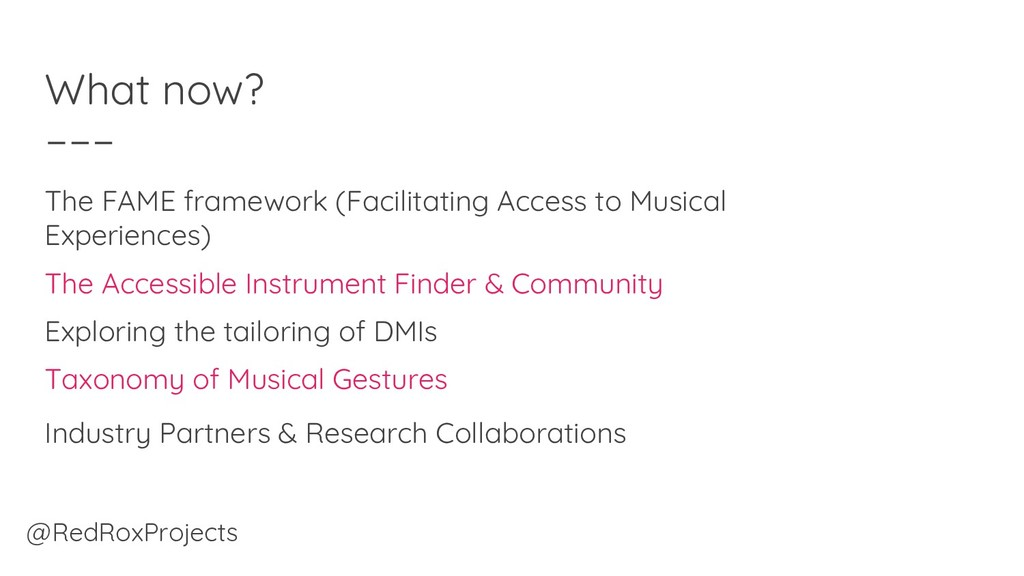 What now? The FAME framework (Facilitating Acce...