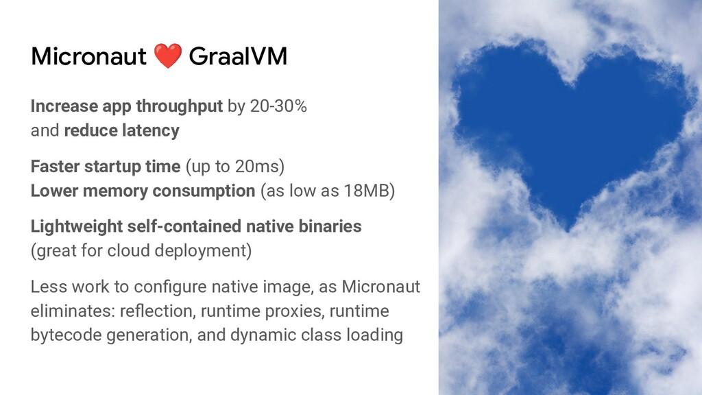 Micronaut ❤ GraalVM Increase app throughput by ...