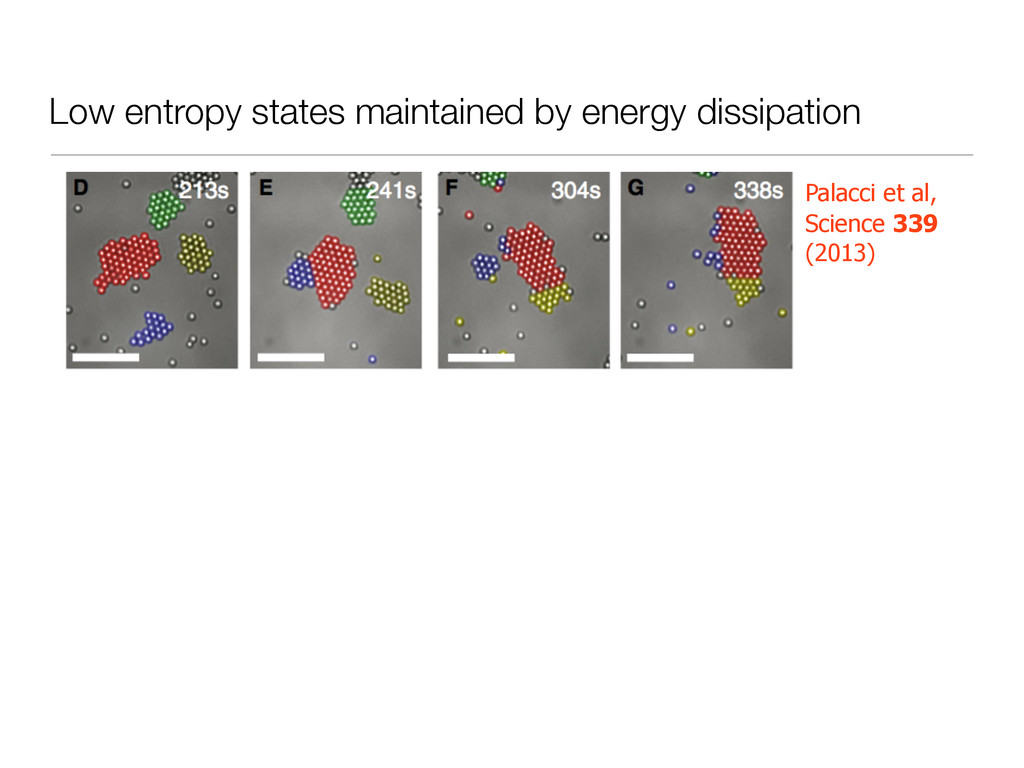 Low entropy states maintained by energy dissipa...