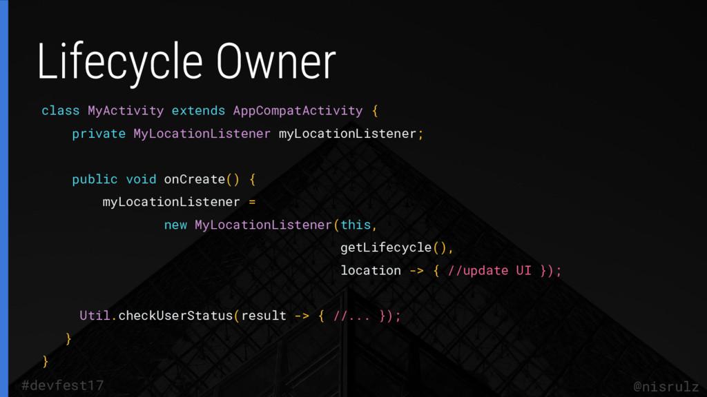 class MyActivity extends AppCompatActivity { pr...
