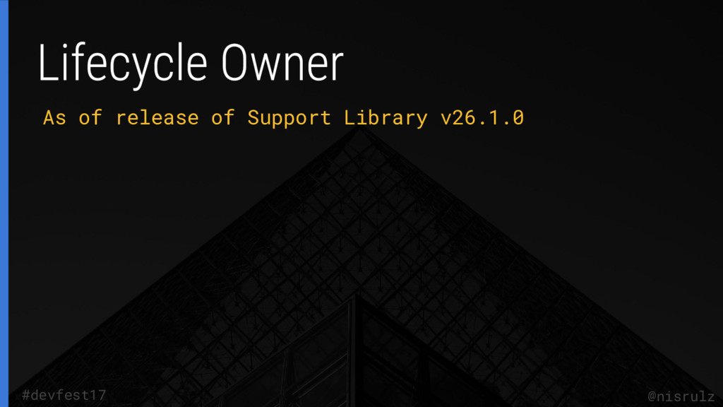 As of release of Support Library v26.1.0 @nisru...