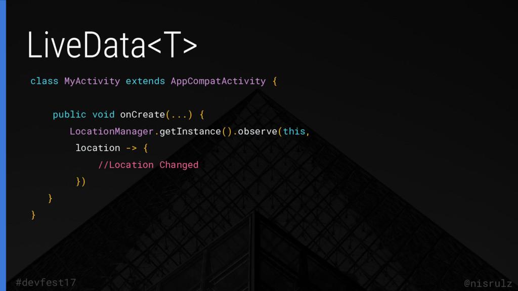 class MyActivity extends AppCompatActivity { pu...