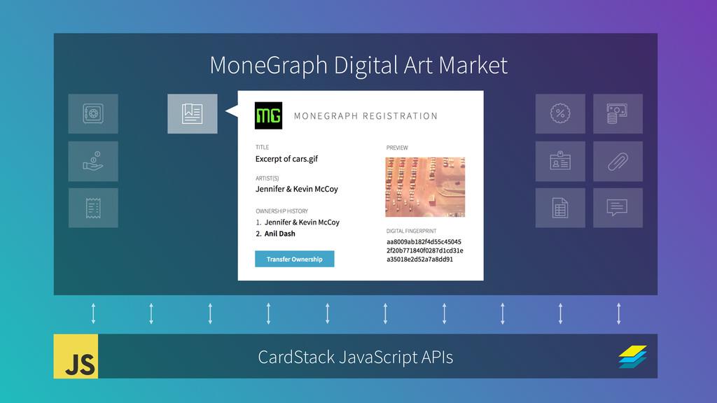 MoneGraph Digital Art Market CardStack JavaScri...