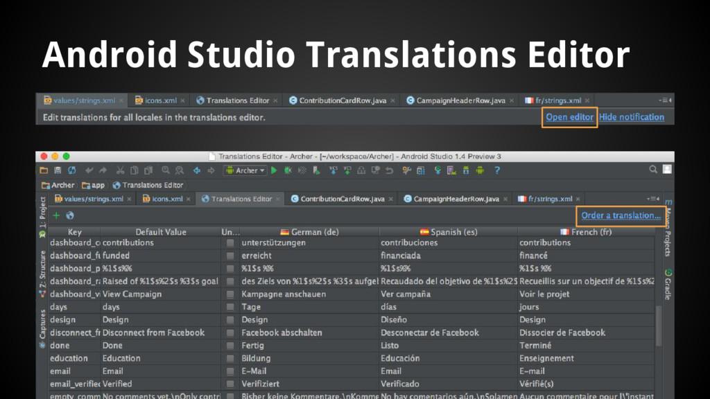 Android Studio Translations Editor