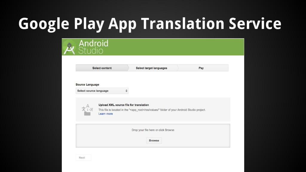 Google Play App Translation Service