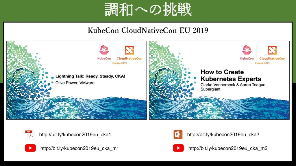 調和への挑戦 KubeCon CloudNativeCon EU 2019 http://bi...
