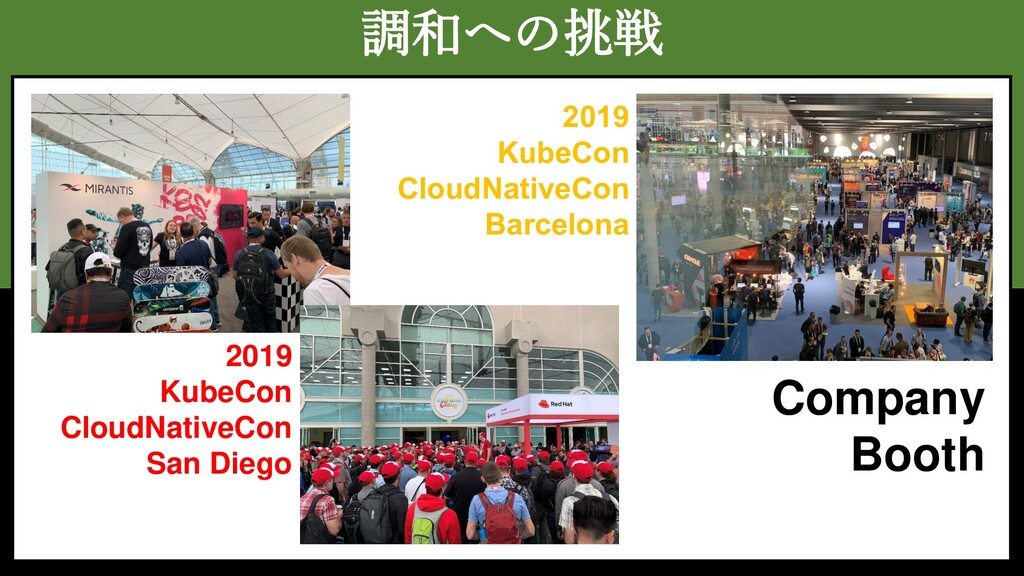 調和への挑戦 Company Booth 2019 KubeCon CloudNativeCo...