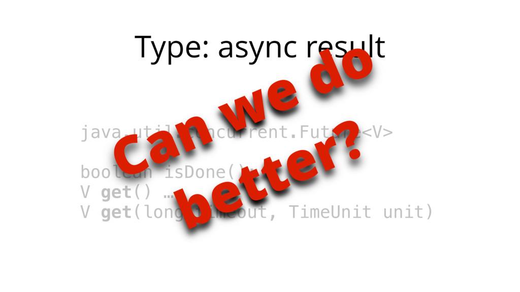 Type: async result java.util.concurrent.Future<...
