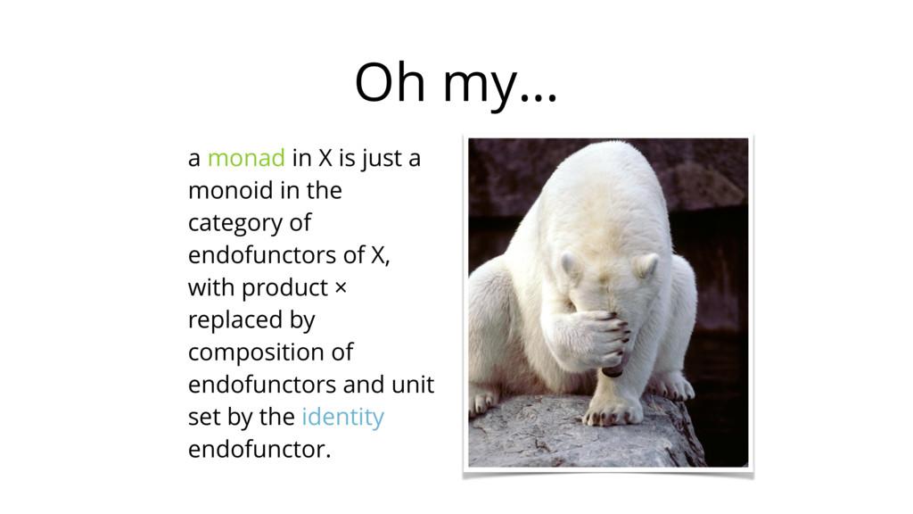 Oh my… a monad in X is just a monoid in the cat...