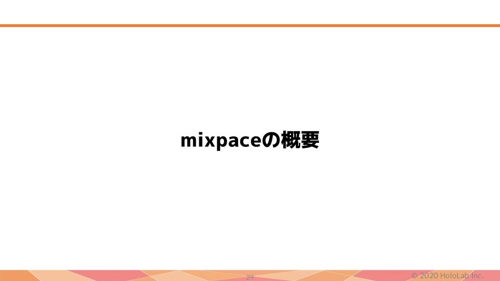 © 2020 HoloLab Inc. 29 mixpaceの概要