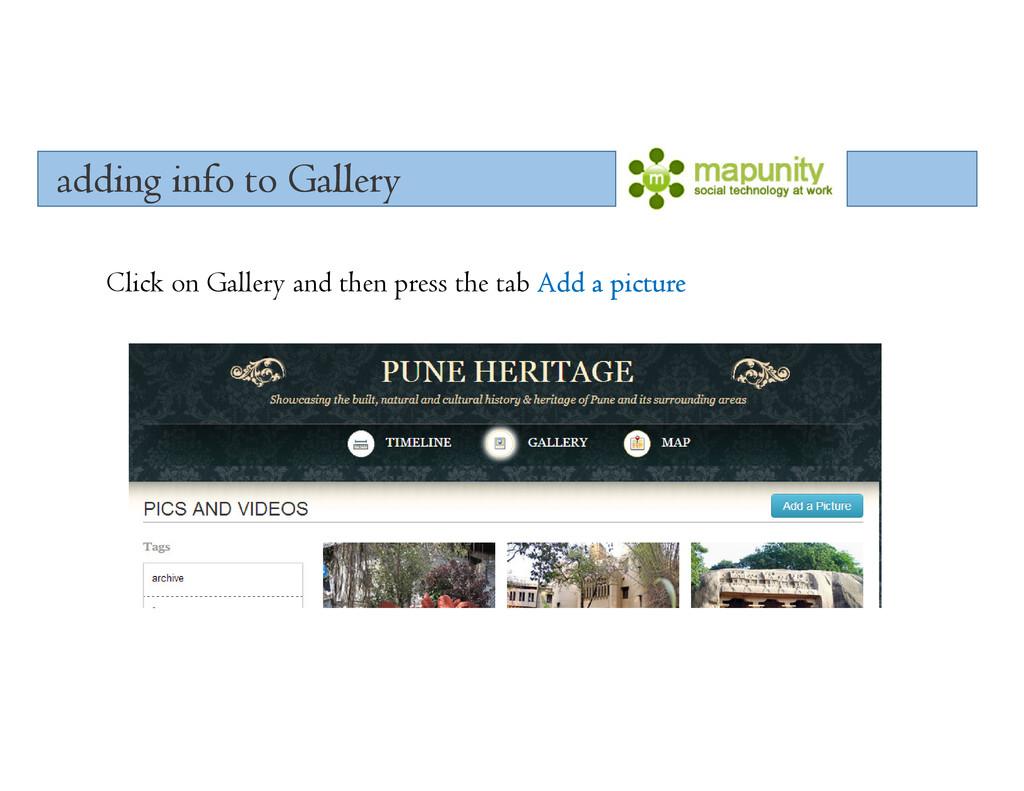 adding info to Gallery adding info to Gallery a...