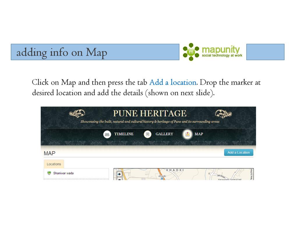 adding info on Map adding info on Map adding in...