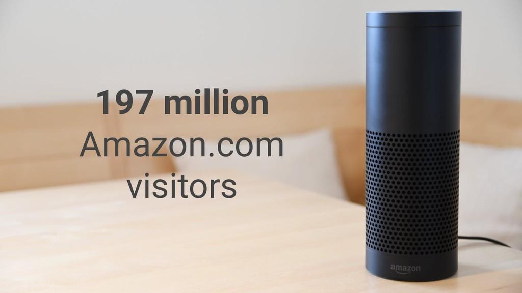 197 million Amazon.com visitors