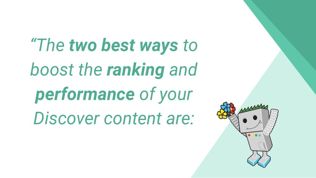 """""""The two best ways to boost the ranking and per..."""