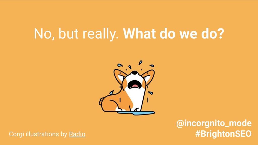 No, but really. What do we do? Corgi illustrati...