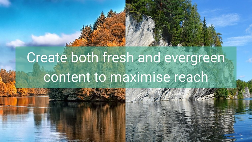 Create both fresh and evergreen content to maxi...