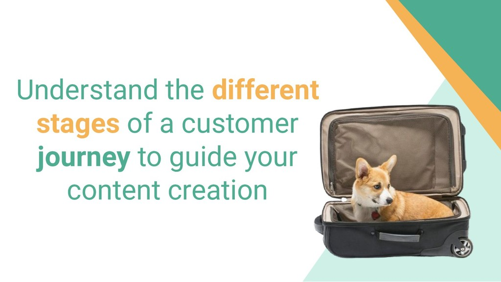 Understand the different stages of a customer j...