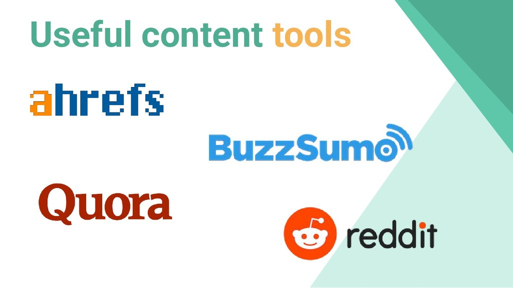 Useful content tools