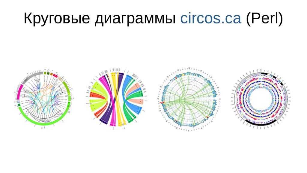 Круговые диаграммы circos.ca (Perl)