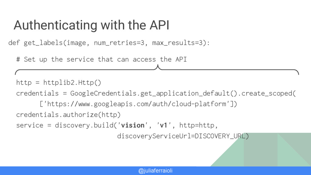@juliaferraioli Authenticating with the API def...