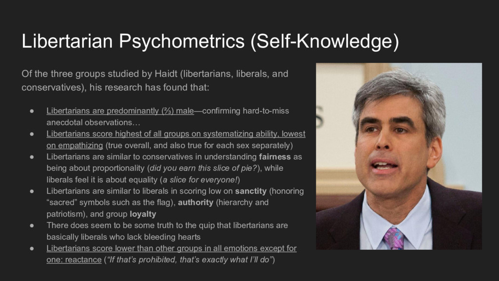 Libertarian Psychometrics (Self-Knowledge) Of t...