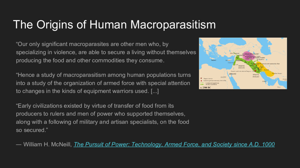 """""""Our only significant macroparasites are other ..."""