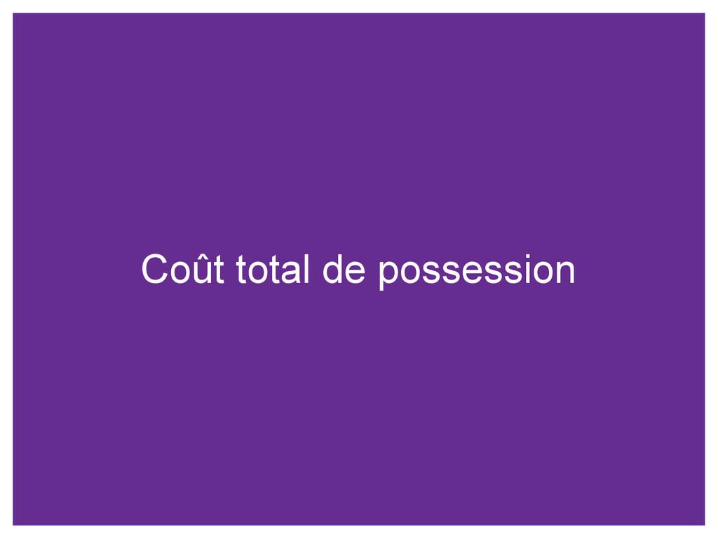 Coût total de possession