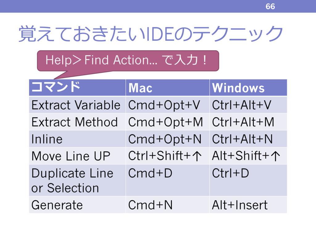 覚えておきたいIDEのテクニック 66 コマンド Mac Windows Extract Va...