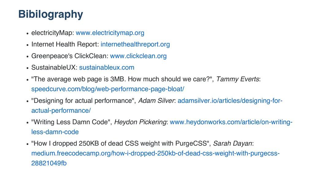 Bibilography electricityMap: www.electricitymap...