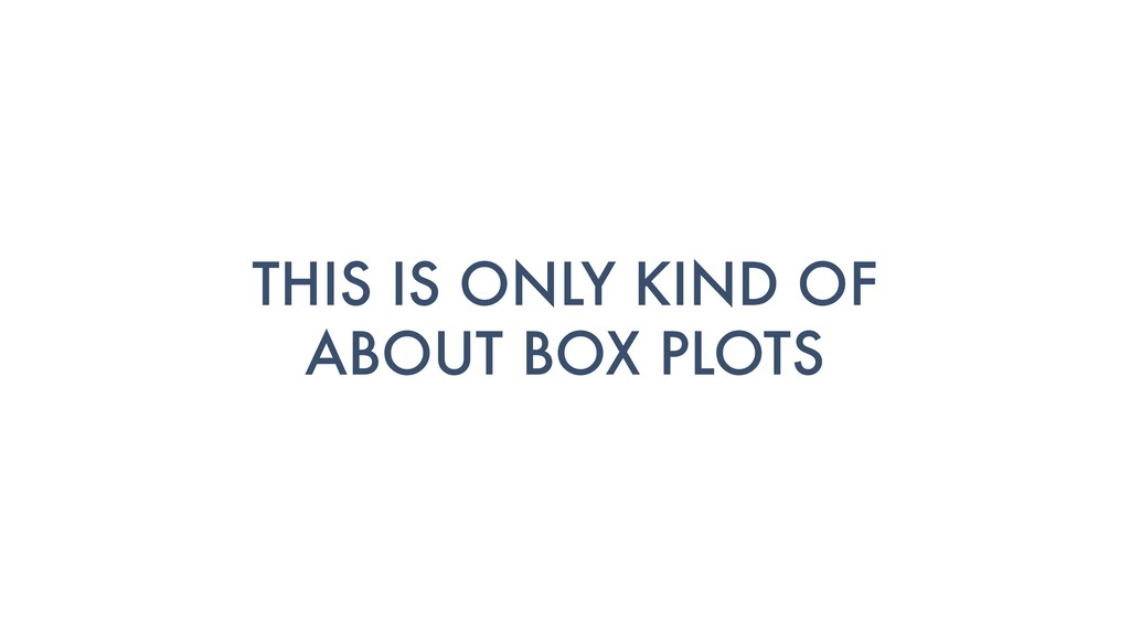 THIS IS ONLY KIND OF ABOUT BOX PLOTS