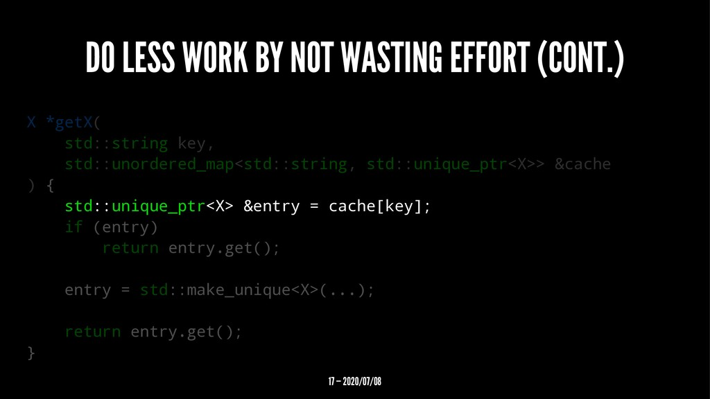 DO LESS WORK BY NOT WASTING EFFORT (CONT.) X *g...