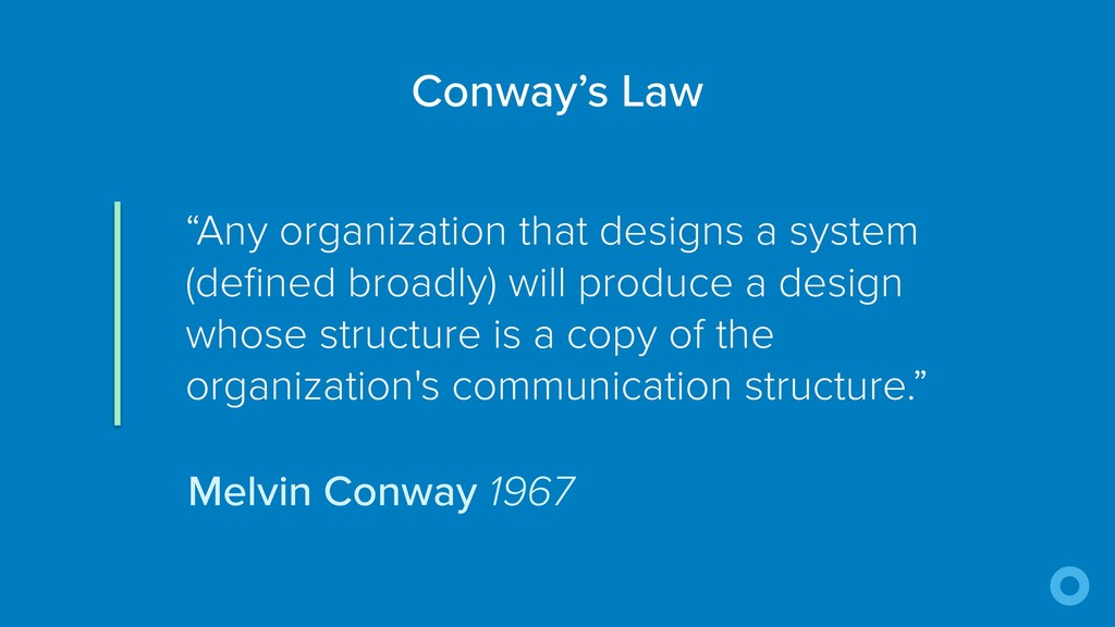 """Any organization that designs a system (define..."