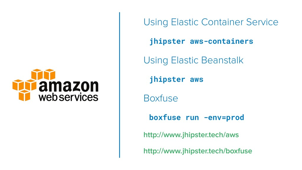 Using Elastic Container Service jhipster aws-co...