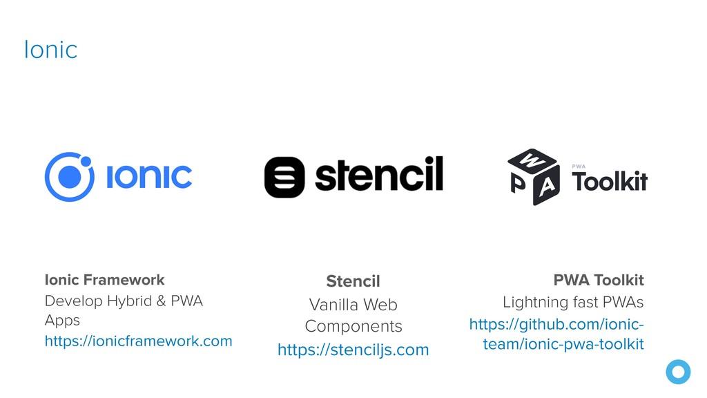 Ionic Ionic Framework Develop Hybrid & PWA Apps...